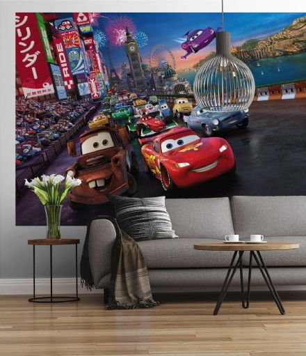 Wall mural wallpaper Disney Cars Race